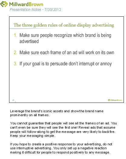 Golden rules for online advertising